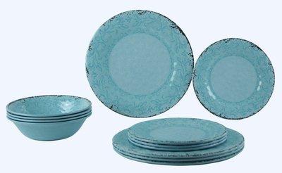 Serviesset Stone Line Opal, antislip, Vintage Look