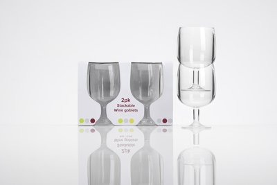 Stapelbare wijnglazen