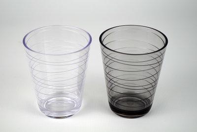 retro glas zwart/wit
