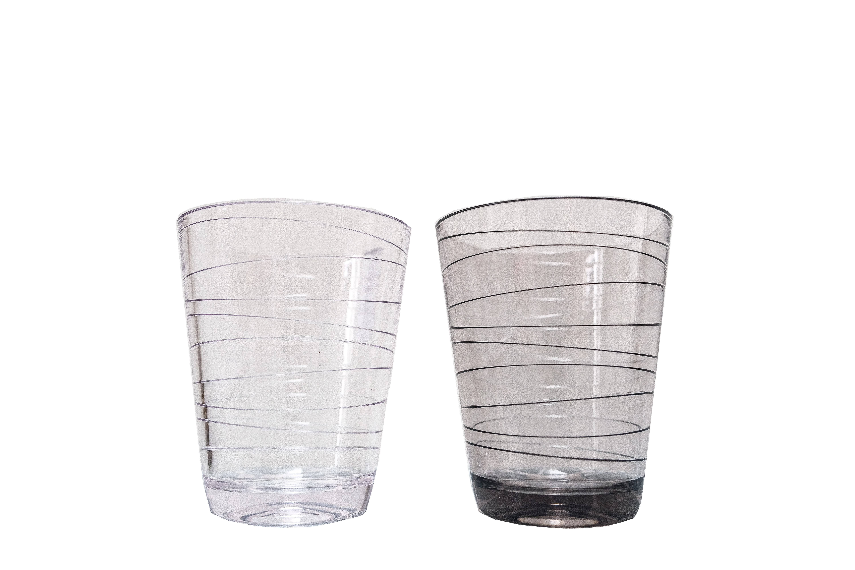 Retro glazen zwart/wit