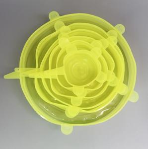 Set silicone stretch lids